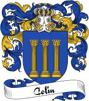 Colin Coat of Arms  Colin Family Crest   VIEW OUR FRENCH COAT OF ARMS / FRENCH FAMILY CREST PRODUCTS HERE