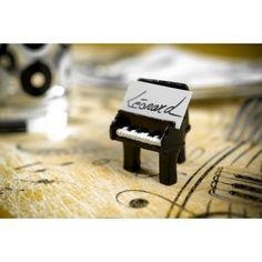 Marque-place piano noir les 2