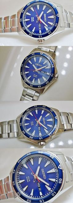Other Watches 166739: New Seiko Sne391 Mens Modern Non-Working Sample Solar 100M Watch V158 0Ay0 -> BUY IT NOW ONLY: $40 on eBay!