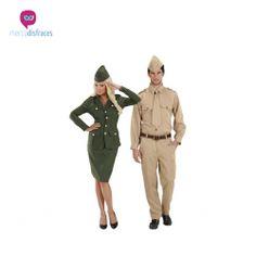 Disfraces grupo militares adultos