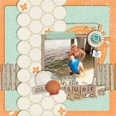 """""""Sassy in the Surf"""" by Tracyfish, as seen in the Club CK Idea Galleries. #scrapbook #scrapbooking #creatingkeepsakes"""