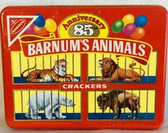 BARNUMS's Animal Cracker Red TIN-Nabisco Advertising for 85th Anniversary of Animal Crackers