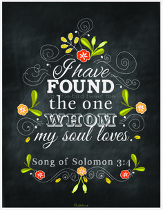 I Have Found the One... Song of Solomon 3:4 via A Little Bird Tweet Me | #bible #quotes #love