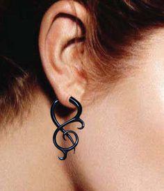 Thistle Twists - Fake Gauges - Black Horn Earrings  $22.00