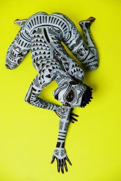 Laolu x Maximus Sacred Art of The Ori For Colored Girls Photo by Ed Maximus Body Art Laolu Senbanjo Muse: Nadia