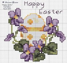 Violettes et oeuf de Pâques