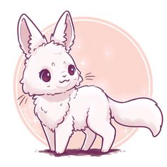 Arctic Fox combined with an Arctic Hare because I was going with an Arctic theme ❄️😂💕 (also cant think of a name for this fusion) Feel free to comment animals below and maybe they'll be in my next fusion Chat Kawaii, Manga Kawaii, Arte Do Kawaii, Kawaii Chibi, Cute Chibi, Kawaii Art, Cute Kawaii Animals, Cute Animal Drawings Kawaii, Cartoon Drawings