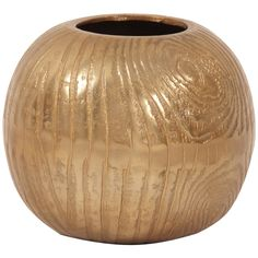 Howard Elliott Textured Gold Round Vase - Small
