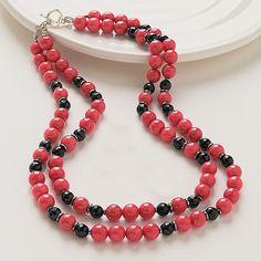 red jade (!) & onyx - jade rouge (!) & onyx