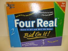 FOUR REAL BID ON IT GAME 1999 UNIVERSITY GAMES MADE IN USA COMPLETE 10 AND UP #UNIVERSITYGAMES