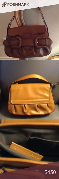 Authentic Fendi  Brown Leather Shoulder chain Bag Authentic Fendi Brown Leather Chain Shoulder bag. Great condition with ID inside and also Hologram label inside pictures included. Clean inside no flaws. Fendi Bags Shoulder Bags