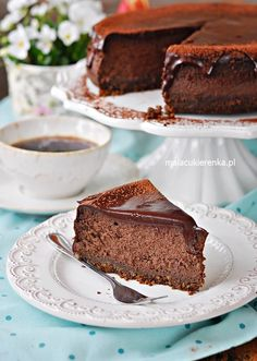 Strongly Chocolate Cheesecake with an icing - Recipe - Little Candy Icing Recipe, Chocolate Cheesecake, Flan, Cheesecakes, Oreo, Cooking Recipes, Candy, Baking, Interior