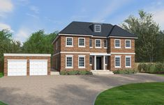 This Georgian inspired design has a classical outward appearance but a modern internal layout with an open plan kitchen and sunroom with bi-fold doors. Sims 4 House Building, Homes England, Timber Frame Homes, Georgian Homes, Dream House Plans, Build Your Dream Home, House Layouts, Traditional House, New Homes
