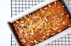 Preheat your oven for a quick-fix recipe for moist banana bread loaded with chopped walnuts and chocolate chips.