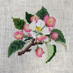 Cross Stitch Cards, Beaded Cross Stitch, Cross Stitch Rose, Cross Stitch Flowers, Cross Stitching, Cross Stitch Designs, Cross Stitch Patterns, Embroidery Stitches, Hand Embroidery