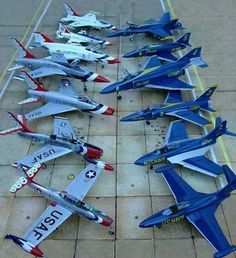 Thunderbirds and Blue Angels