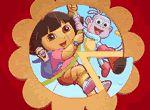 Dora Round Puzzle en los juegos infantiles gratis para niños y niñas de VivaJuegos.com