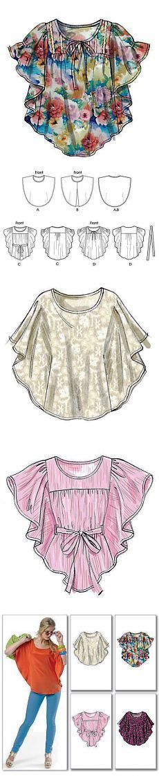 Ideas For Sewing Patterns Tops Tunics Neckline Diy Clothing, Sewing Clothes, Clothing Patterns, Dress Patterns, Sewing Patterns, Dress Sewing, Diy Vetement, Creation Couture, Top Pattern