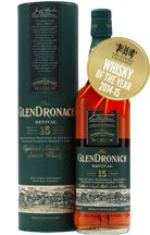 Glendronach Revival 15 Year Old Whiskey of the Year 2014/2015