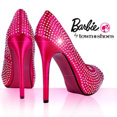 Sparkly Pink Shoes...what's not to ♥?     Barbie by Town Shoes  #118472056