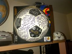 Carta En Balon Soccer Ball Letter Boyfriend Gift IdeasValentines Gifts For