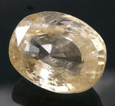 4.71 ct Natural Intense Yellow Sapphire Unheated Ceylon Loose Gemstone Y21