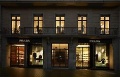 Prada store Barcelona on Paseig de Gracia,  Spain