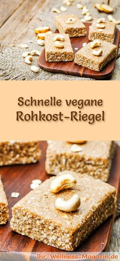 Vegane Kuchen und Süßspeisen: Rezept für vegane Rohkost Riegel - die Riegel gelingen ohne backen, sind gesund, lecker und bekömmlich ... Fruit Smoothies, Smoothie Recipes, Flax Seed Benefits, Low Calorie Fruits, My Favorite Food, Favorite Recipes, Protein Pudding, Roh Vegan, Flax Seed Recipes