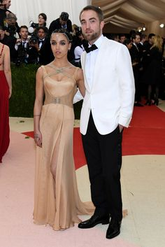 FKA twigs in Atelier Versace and Robert Pattinson in Dior Homme and Jennifer Fisher jewelry