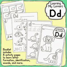 FREEBIE - Letter D mini book