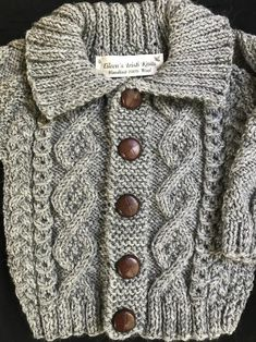 Upgrade Sweater to Cardigan (must also order of my sweaters) Boys Knitting Patterns Free, Baby Sweater Knitting Pattern, Knitted Baby Cardigan, Knitted Coat, Baby Patterns, Baby Knitting, Crochet Baby, Toddler Cardigan, Moss Stitch