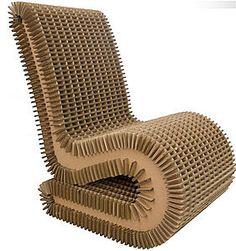 Eco design line Cardboard Furniture, Cardboard Crafts, Cardboard Chair, Cardboard Design, Cardboard Sculpture, Cardboard Paper, Lasercutter, Carton Design, Paper Board