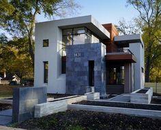 Fachadas de casas modernas con lajas