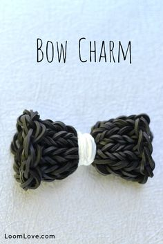 How to Make a Bow Charm on the Monster Tail - Rainbow Loom video tutorial