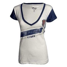 Chicago Bears Women's Baby Blue Chicago Flag T-Shirt By Clark ...