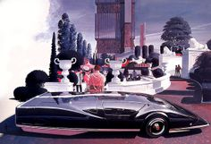 Sentinel Car Concept by Syd Mead