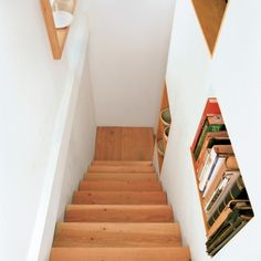 Built-in Shelves on the stairs