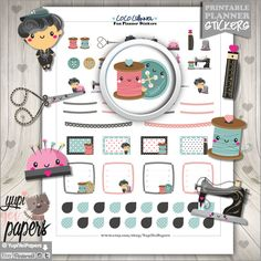 Fashion Stickers, Planner Stickers, Coco Channel Stickers, Erin Condren, Kawaii Stickers, Planner Accessories, Modern Stickers, Planner Girl