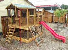 timber cubby house and forts by