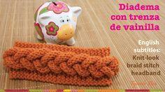 Mini tutorial # vincha o diadema con trenza en relieve en 2 agujas. Crochet Hood, Love Crochet, Crochet Motif, Knit Crochet, Crochet Stitches Patterns, Knitting Stitches, Knitting Designs, Knitting Patterns, Knitting Videos