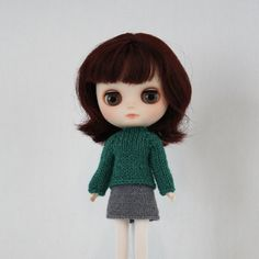 New to AnneArchy on Etsy: Middie Blythe doll Pilar Sweater knitting PATTERN - long and short sleeve sweater - instant download - permission to sell finished items (5.00 USD)