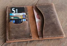 Leather Billfold Wallet  Mens Womens Wallets  No More by JooJoobs, $39.00