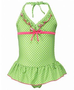 Penelope Mack Kids Swimwear, Little Girls or Toddler Girls One-Piece Ruffled Swimsuit - Toddler Girl Swimsuits - Macy's