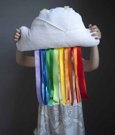 rainbow/cloud pillow