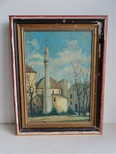 Gemälde Balkan Feldzug Wehrmacht Moschee Serbien Beutegut Ölfarben 1942 Islam Islam, Painting, Ebay, Mosque, Painting Art, Paintings, Muslim, Painted Canvas, Drawings