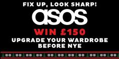 Book Tickets for Fix Up, Look Sharp - Win £150 to spend on ASOS at , London on Wed 7th Dec 2016 - brought to you by Late Night London Students.