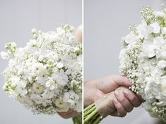 With pearl pins and lace wrapped stems!