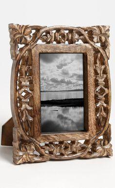 carved wood frame