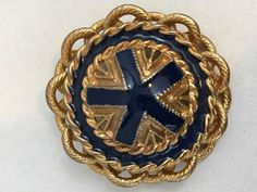 Dauplaise Gold Tone Blue Vintage Brooch Collectible Gift | Jewelry & Watches, Vintage & Antique Jewelry, Costume | eBay!