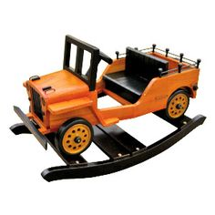 Oh my, Jason would die. AMAZING Wooden Baby Rockers (cars, jeeps, trucks, boats, airplanes!) $174.99